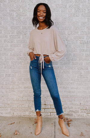 LONG ISLAND CROPPED PULLOVER TOP