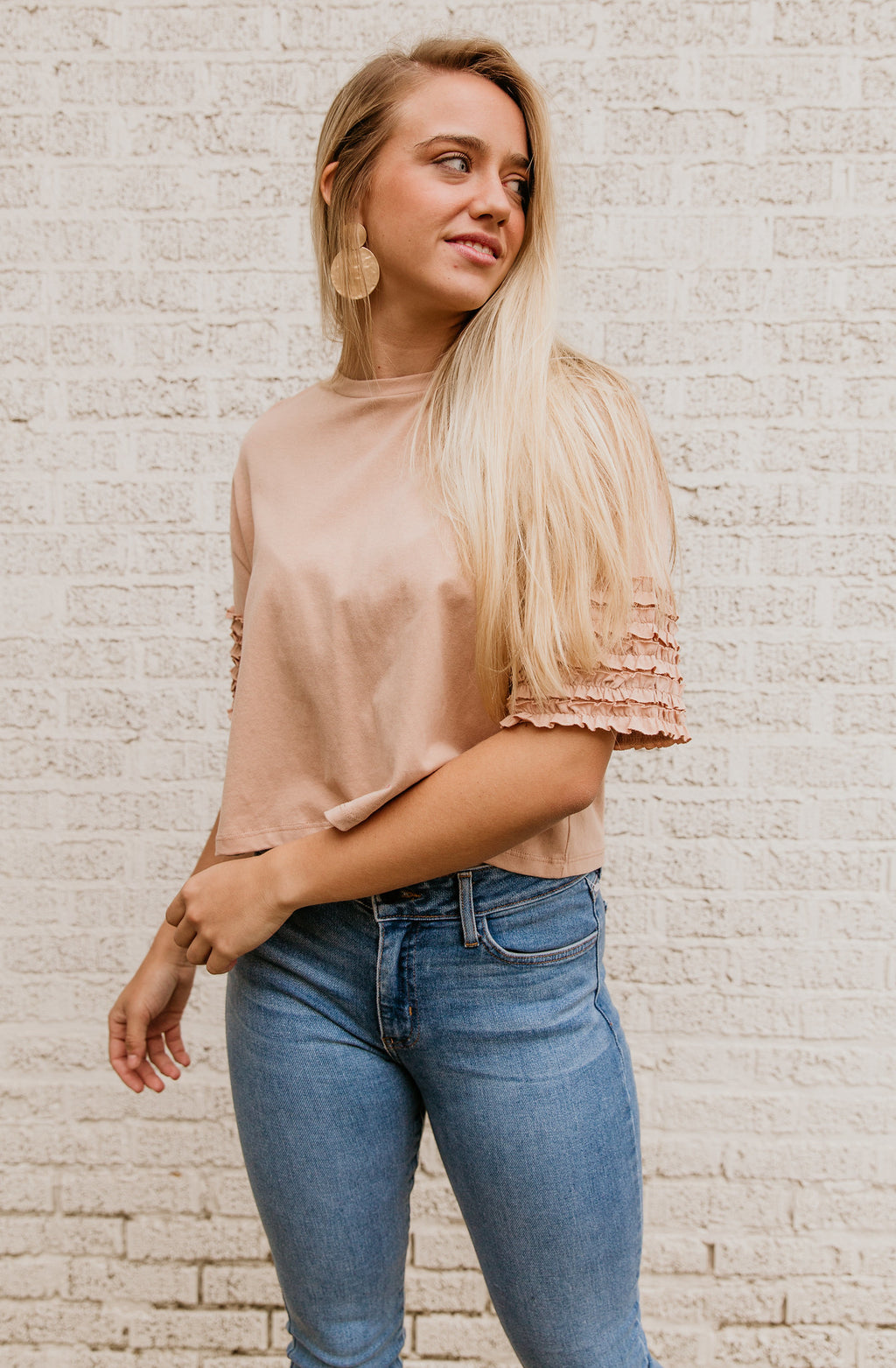 ALWAYS A FLIRT CROP KNIT TOP
