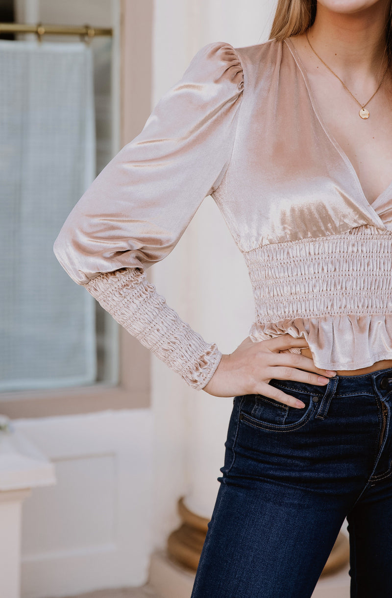 VELVET TEDDY BLOUSE