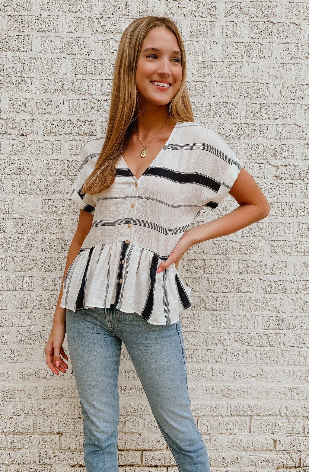 STRIPE A POSE BLOUSE