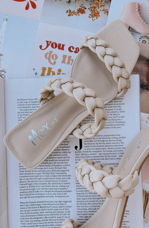 JIA BRAIDED DOUBLE STRAP HEELS