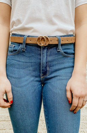 SADIE DOUBLE CIRCLE BELT (MULTIPLE COLORS)