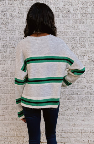 ON THE BRIGHT STRIPE SWEATER