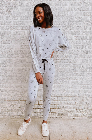 Z SUPPLY LOUNGE JACKIE STAR JOGGER