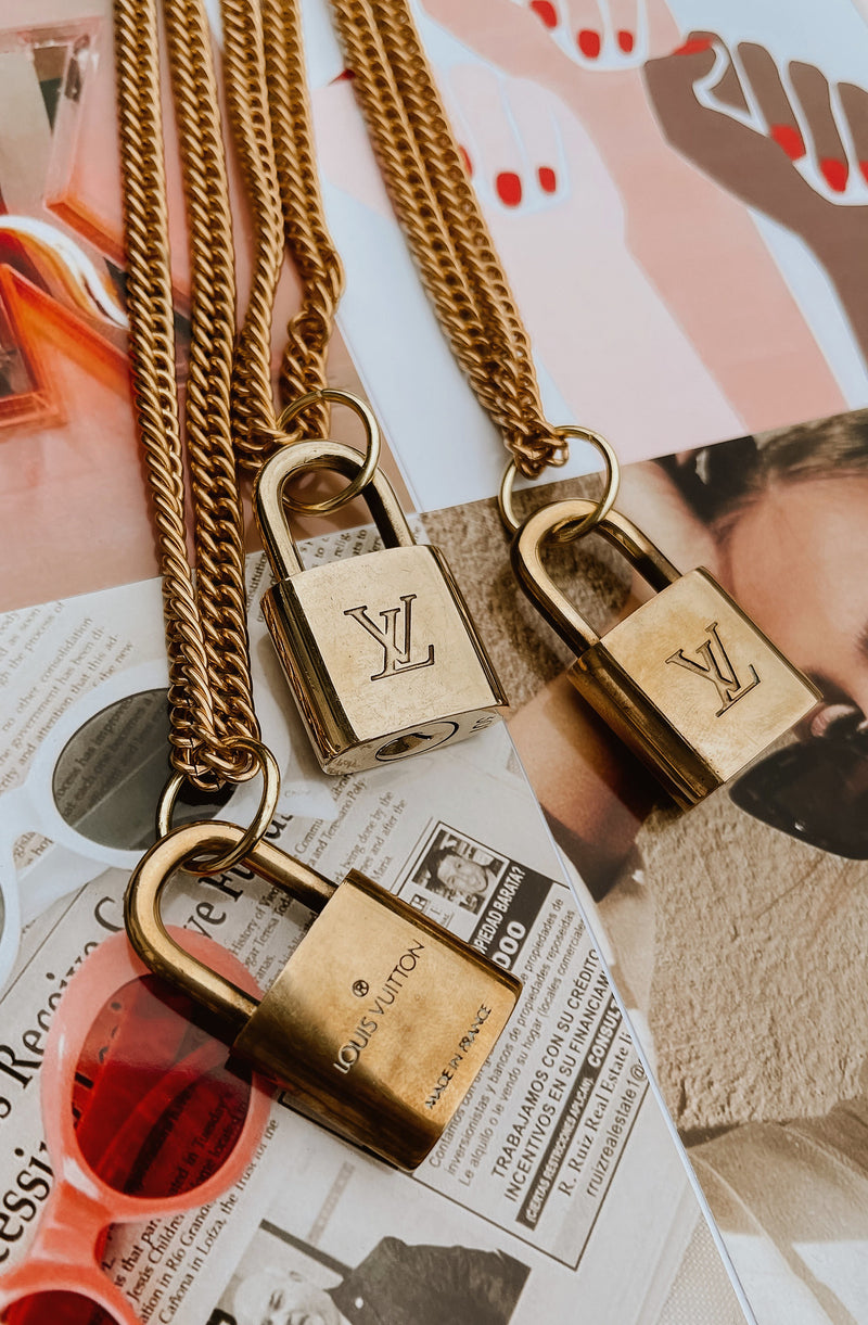 REPURPOSED LOUIS VUITTON LOCK NECKLACE