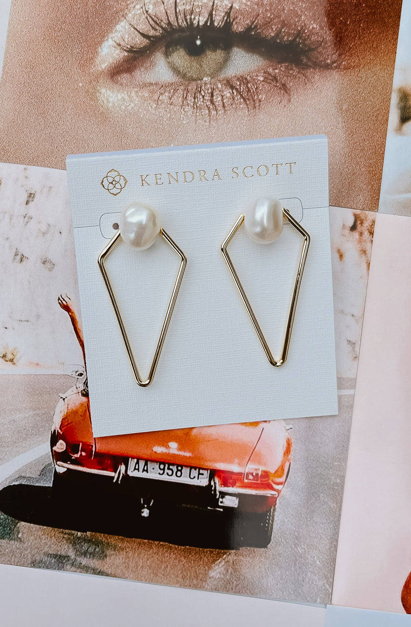 KENDRA SCOTT DEMI OPEN FRAME EARRINGS