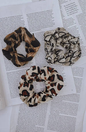 TAME THE BEAST ANIMAL PRINT SCRUNCHIE SET