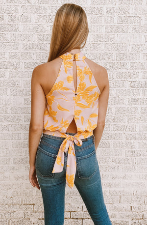 SO DARLING HALTER BLOUSE