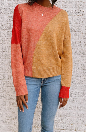 THE COLOR BLOCKING CREW SWEATER
