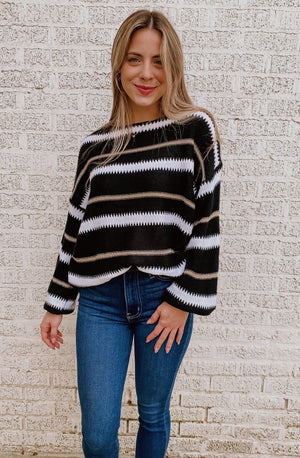 CAN'T STRIPE ME DOWN SWEATER