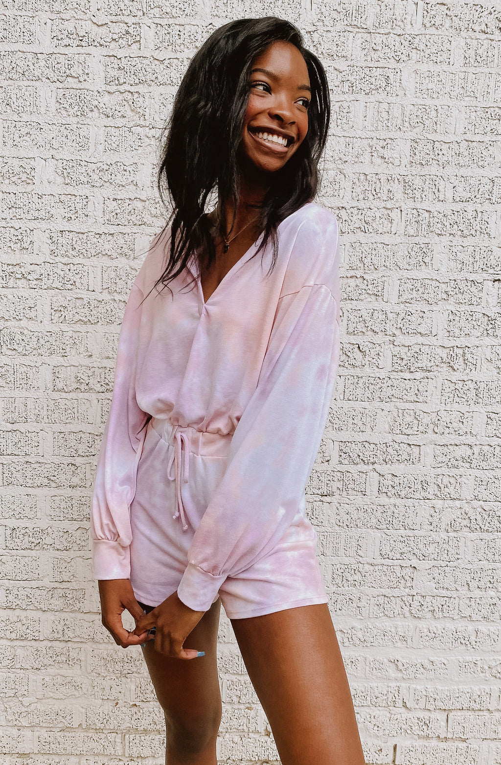 TIE BACK LATER TIE DYED ROMPER