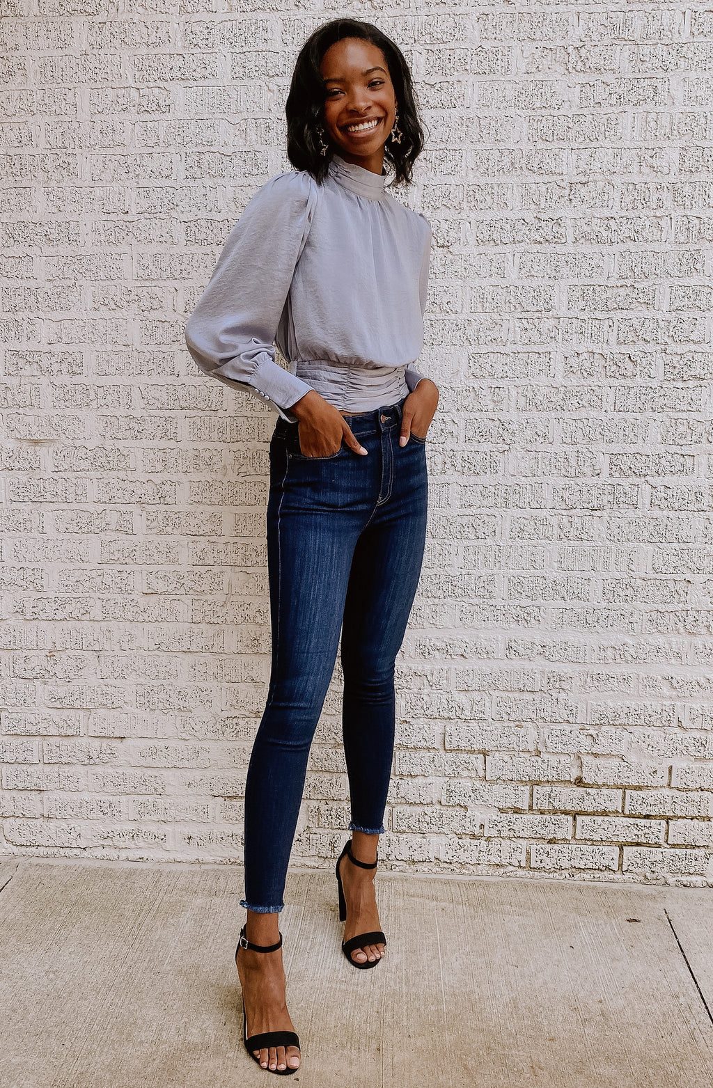 DIVINE DAHLIA HIGH RISE SKINNY DENIM
