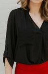 TOO COOL FOR SCHOOL BLOUSE IN BLACK