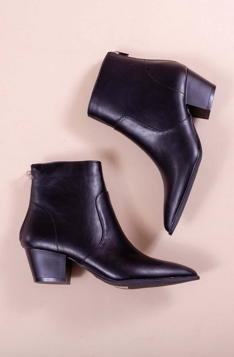WALK THIS WAY BOOTIES IN BLACK