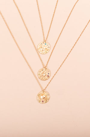 ZODIAC NECKLACES WITH STONES