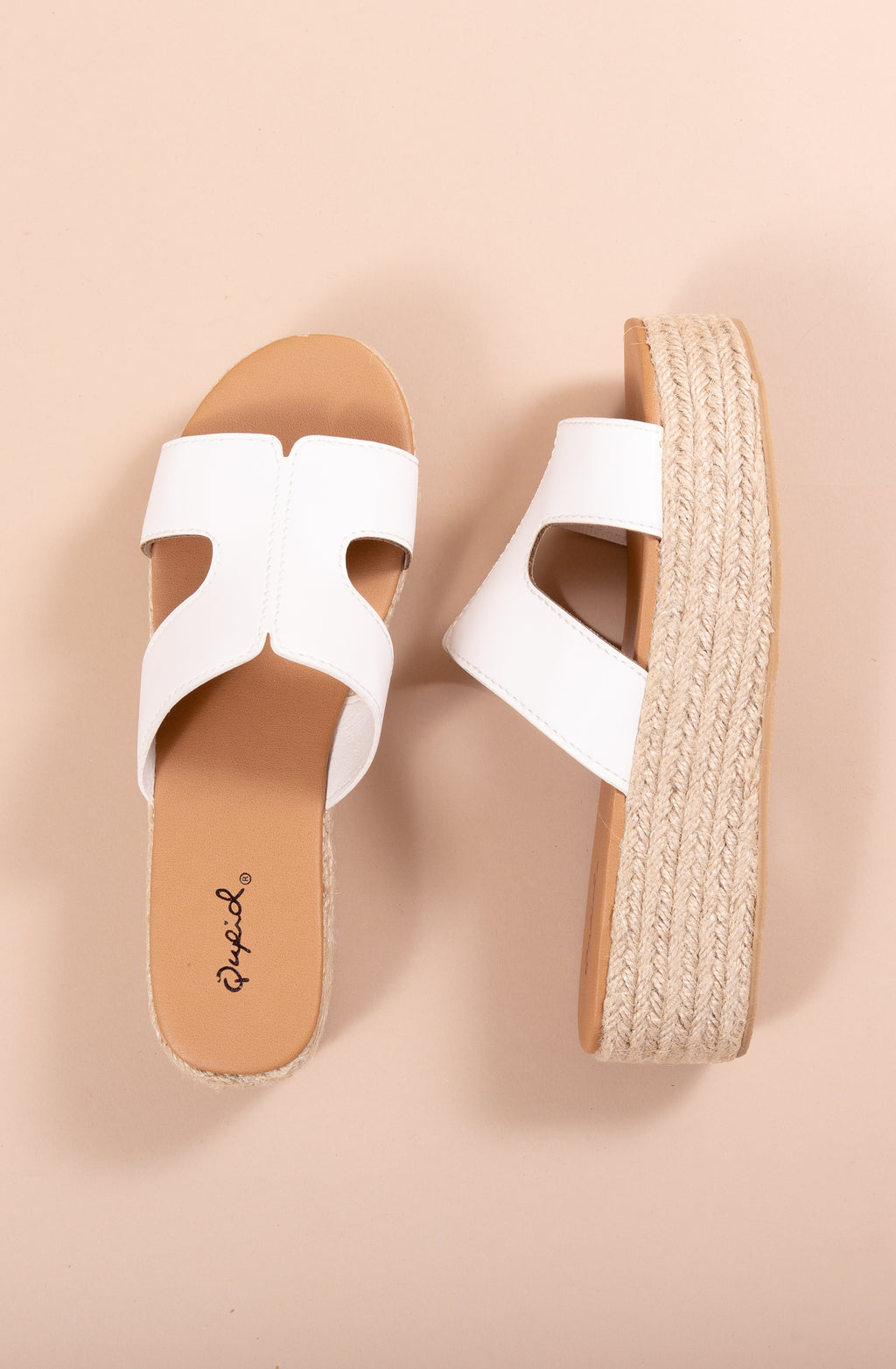 BEACHIE PLATFORM SANDALS IN WHITE