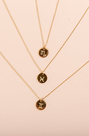 ZODIAC NECKLACES IN GOLD