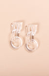 CLEARLY CLEAR DROP EARRINGS