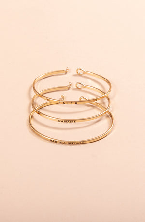 MANTRA BANDS IN GOLD