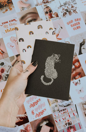 LEOPARD AND RAINBOWS POCKET NOTEBOOK DUO