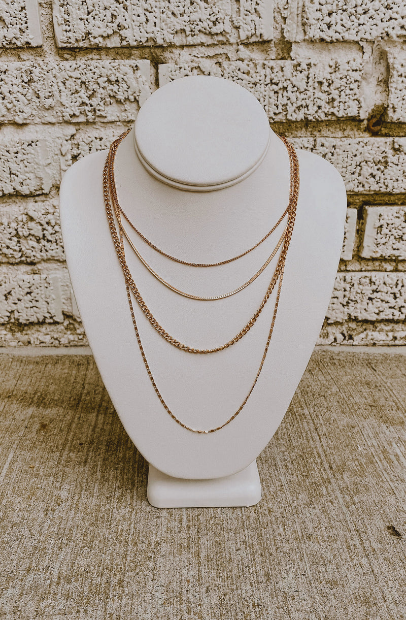 MILLE FEUILLE FOUR-LAYERED NECKLACE