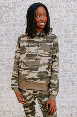 CAMO-N GET IT FLEECE LINED SET HOODIE