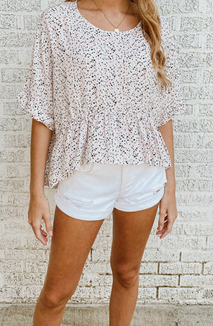 CRAZY IN PRINT BLOUSE