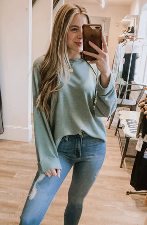 LONGING FOR YOU LONG-SLEEVED TOP