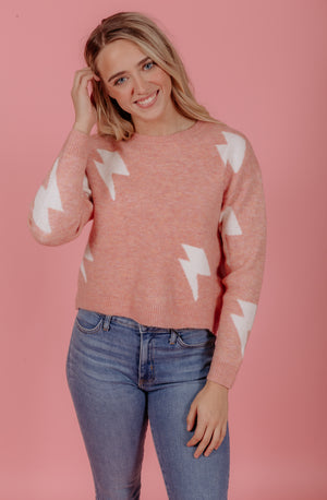 STRIKE A POSE KNIT SWEATER