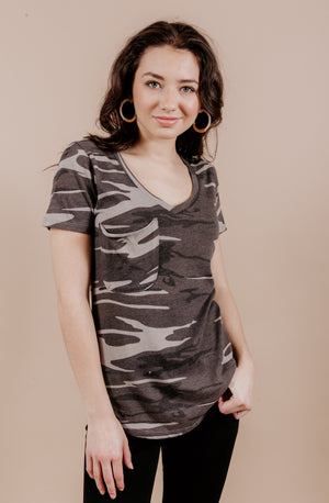 NOW YOU SEE ME CAMO Z SUPPLY POCKET TEE
