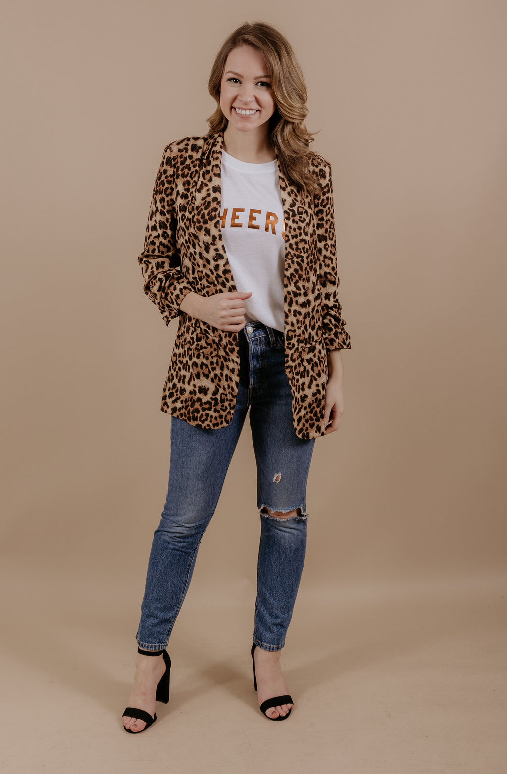 GREATEST OF ALL TIME LEOPARD BLAZER