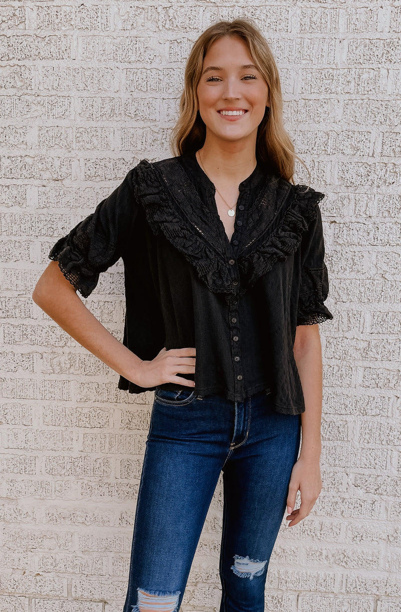 FREE PEOPLE WALK IN THE PARK BLOUSE