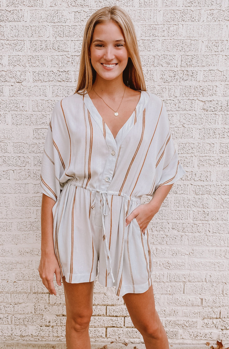 MY MIND'S AT THE BEACH ROMPER