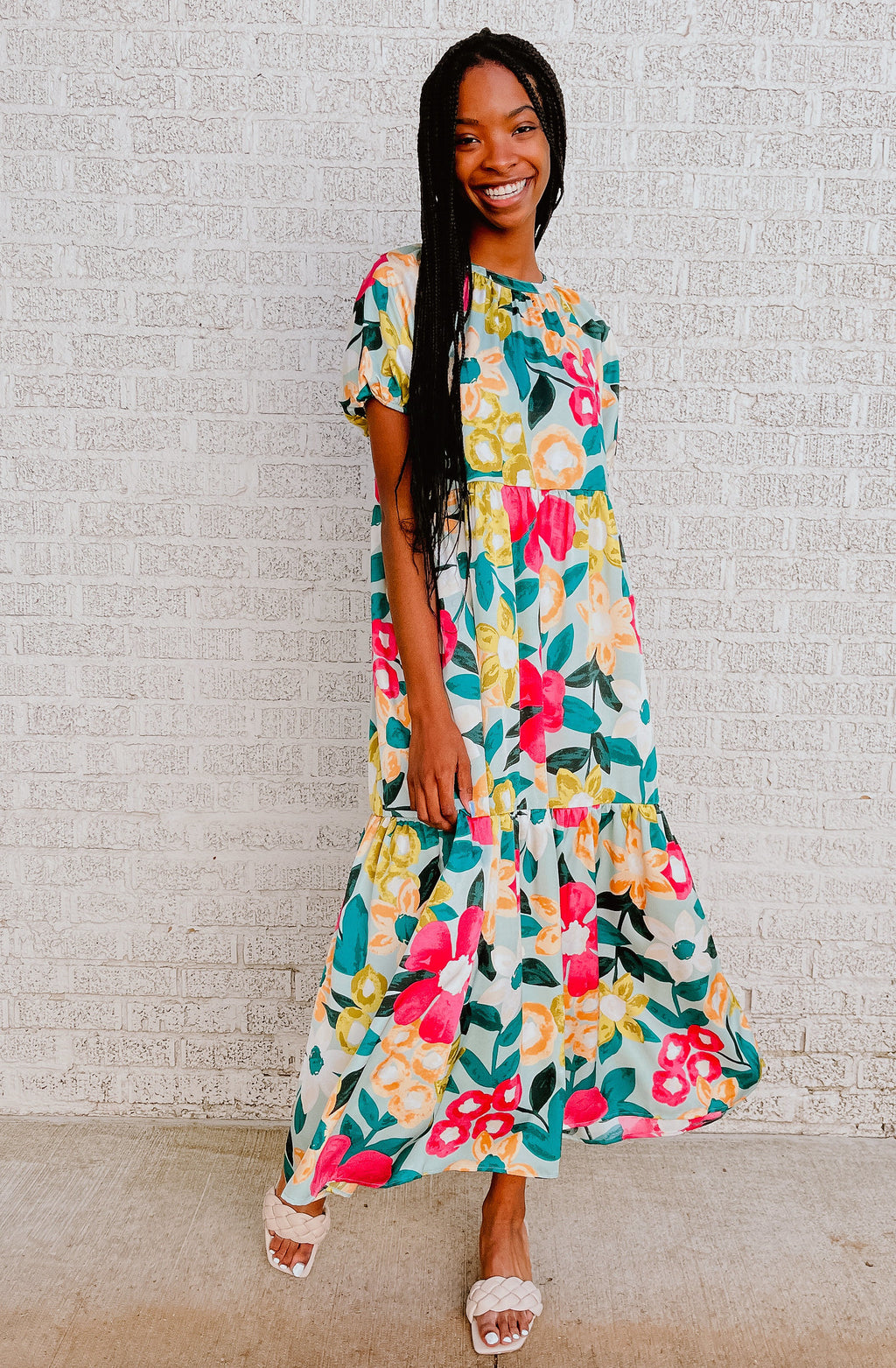 GET YOUR FLORAL ON MAXI DRESS