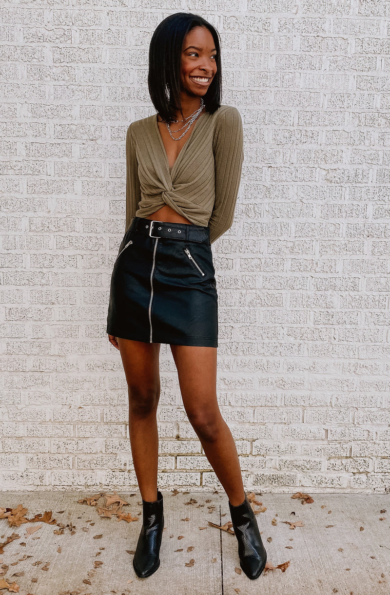 WALKIN' THE RUNWAY MINI SKIRT