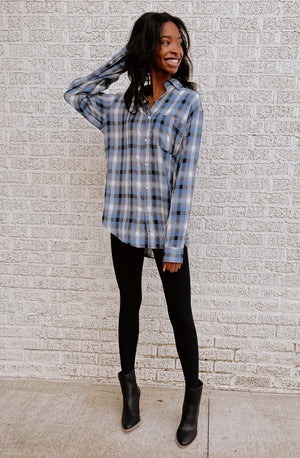 LAY IT OUT PLAID & SIMPLE TOP