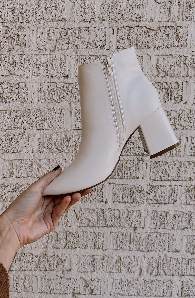 NESSA FAUX LEATHER BOOTIES