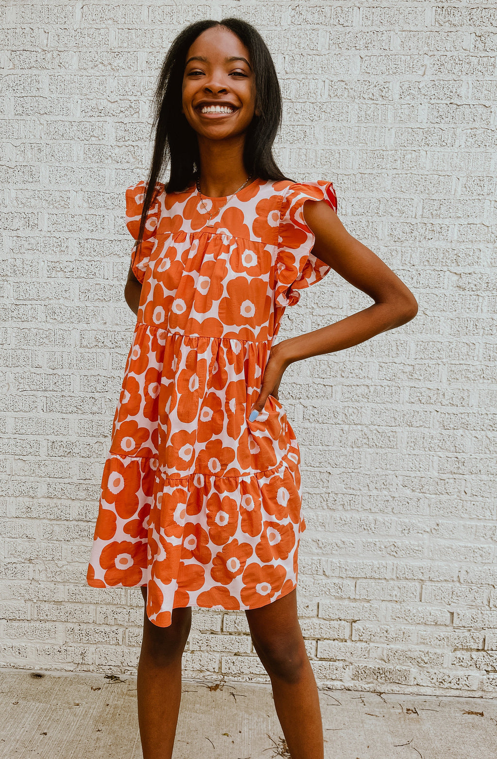 FEELIN' POPPY POCKET DRESS