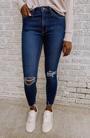 LANA HIGHRISE SKINNY DISTRESSED DENIM