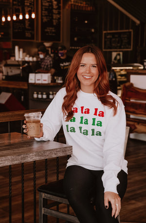 FA LA LA GRAPHIC CHRISTMAS SWEATSHIRT