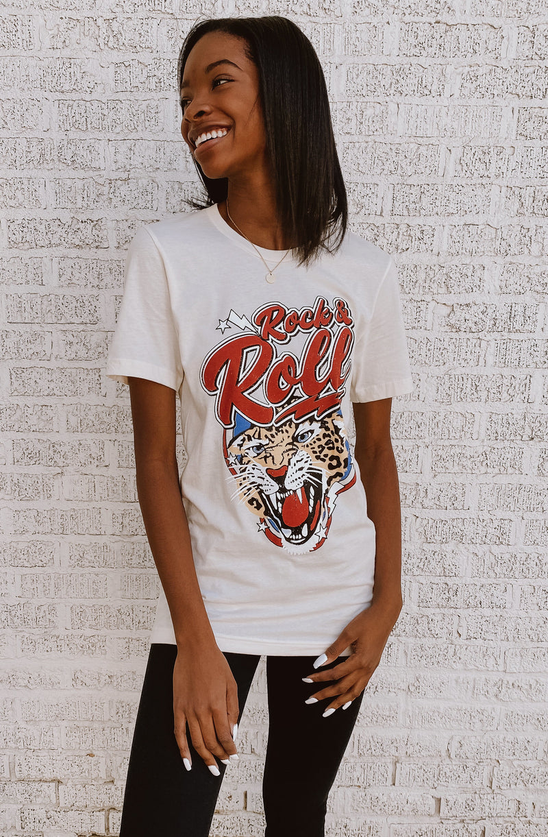 ROCK N ROLL TIGER GRAPHIC TEE