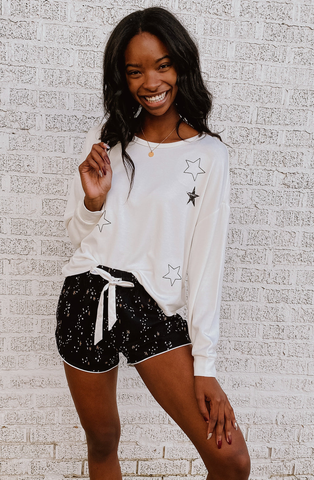 Z SUPPLY NIGHT OWL STARRY SWEATSHIRT