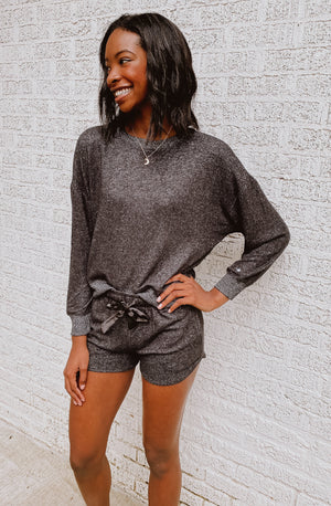 Z SUPPLY LOUNGE ELLE MARLED LONG SLEEVE
