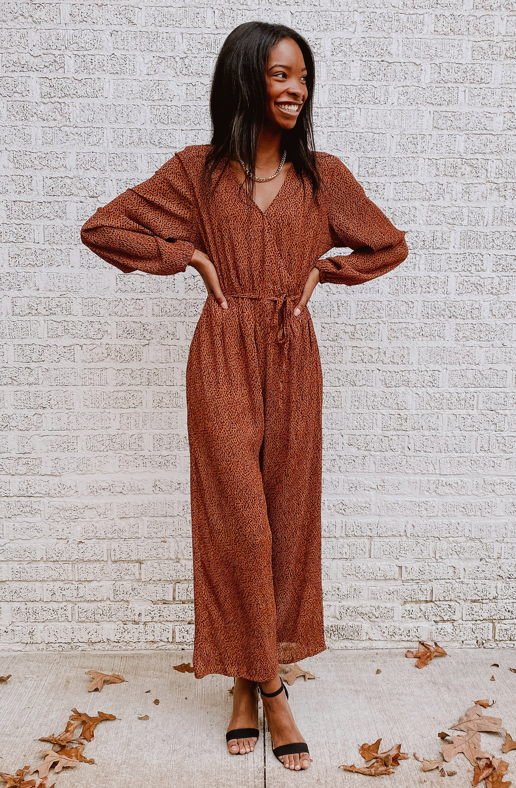 PLEATY PLEASE JUMPSUIT