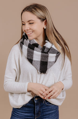 THE BUFFALO PLAID INFINITY SCARF