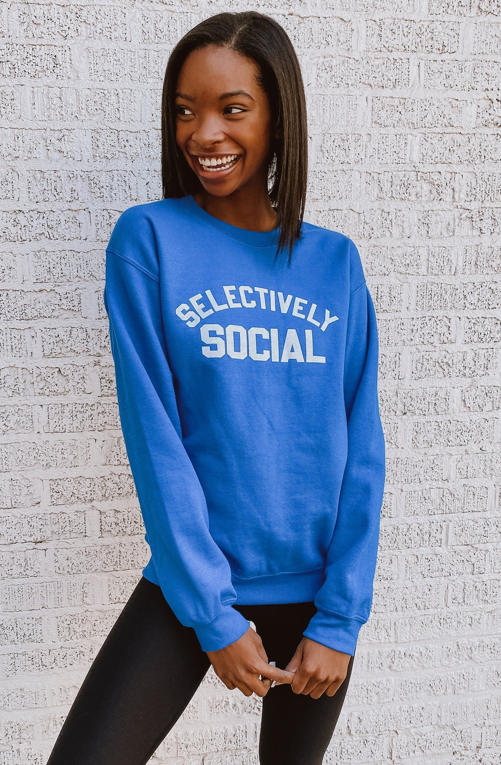 SELECTIVELY SOCIAL GRAPHIC SWEATSHIRT