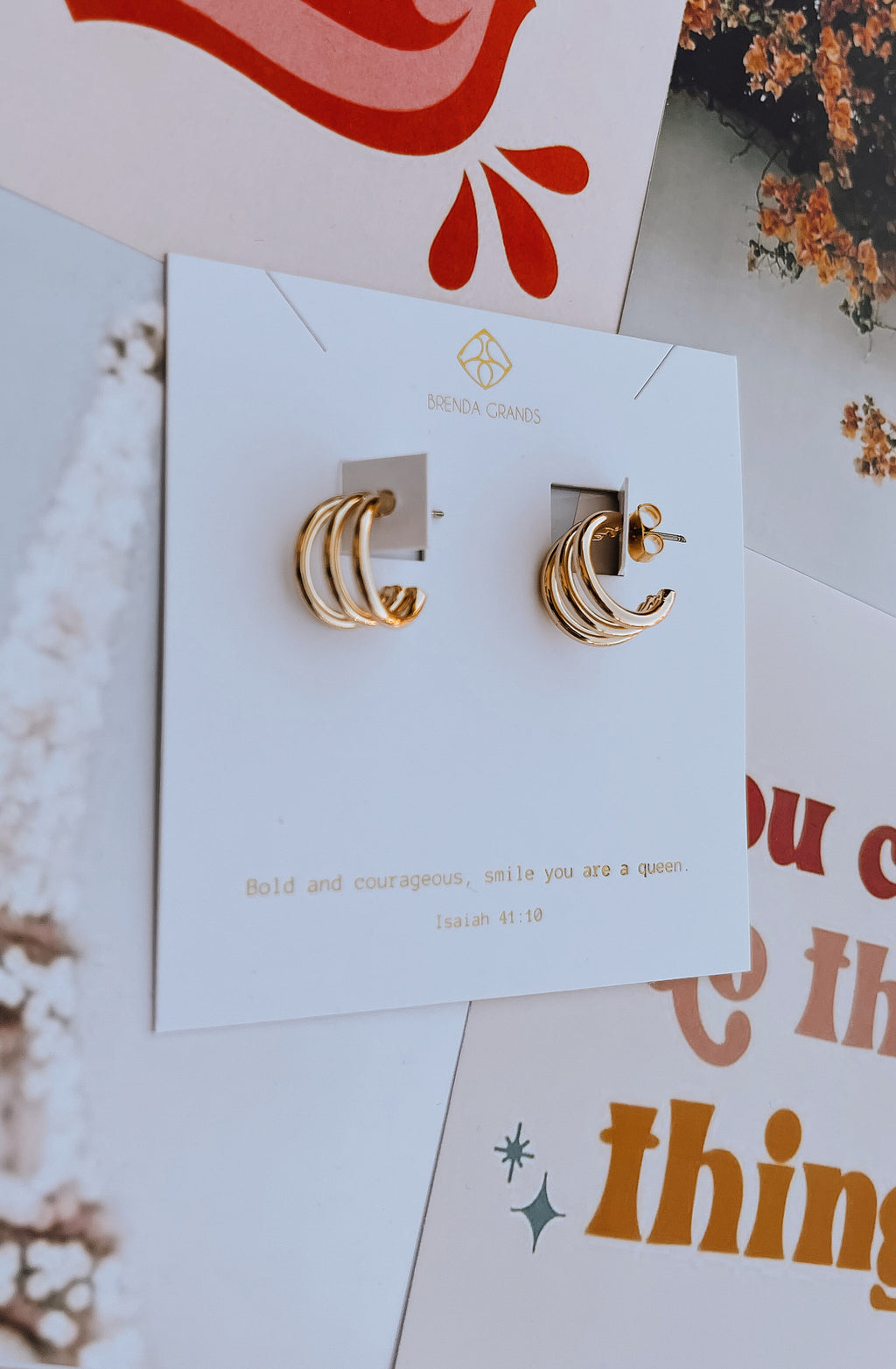BRENDA GRAND'S CAPIRLA SMALL HOOP EARRINGS
