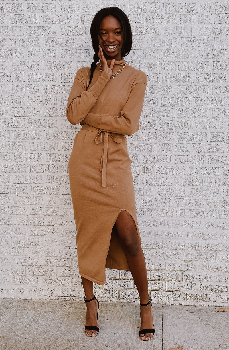 CHARM THEM AWAY SWEATER DRESS