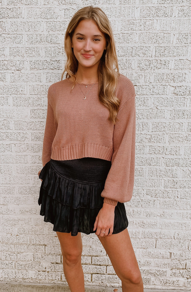 DUSTY ROSE DAY SWEATER