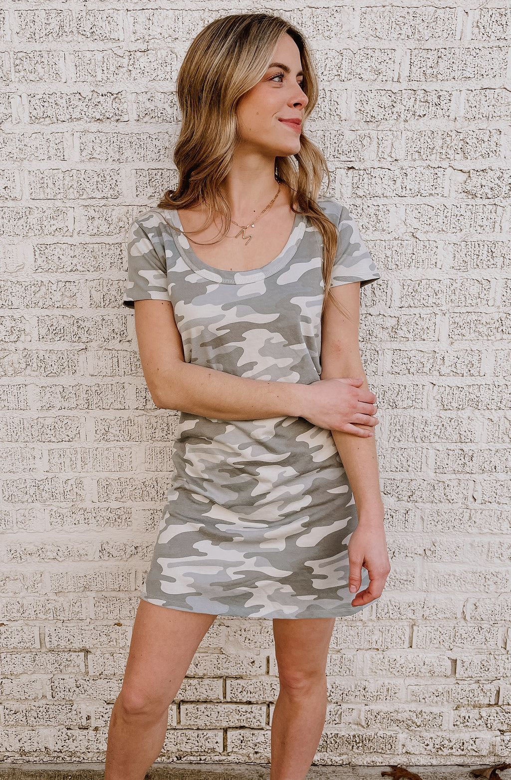 Z SUPPLY PAYTON CAMO TEE DRESS